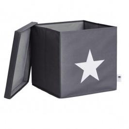 LOVE IT STORE IT BOX NA HRACKY S KRYTOM SEDY, BIELA HVIEZDA, LI-672203