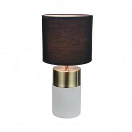 TEMPO KONDELA Stolná lampa, svetlosivá/čierna, QENNY TYP 20 LT8371