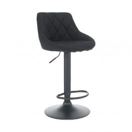 TEMPO KONDELA Barová stolička, látka čierna/čierna, TERKAN