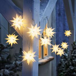 LED reťaze Vianočná hviezda, biela