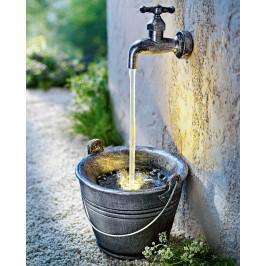 LED Vodná fontána kýblik