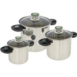 Bo-Camp Cookware set Elegance Compact 3 Stainless steel