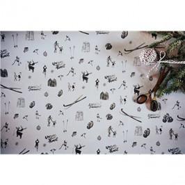 Be Nice Prírodný vianočný papier – svetlý veľký (3 ks)