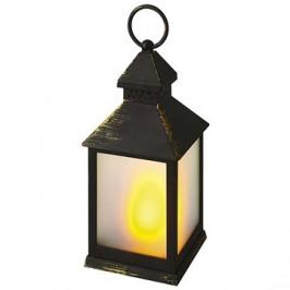 EMOS LED dekorácia – lampa mliečna, čierna, vintage