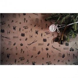 Be Nice Prírodný vianočný baliaci papier – hnedý (5 ks)