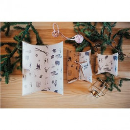 Be Nice Prírodné vianočné krabičky na balenie darčekov – hnedé (3 ks)