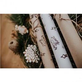 Be Nice Prírodný vianočný baliaci papier (hnedý, svetlý a bez potlače) – sada (3 ks)