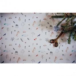 Be Nice Poetický vianočný baliaci papier veľký (3 ks)