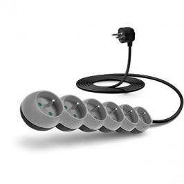 CONNECT IT predlžovací 230 V, 6 zásuviek, 3 m, sivý