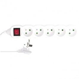 EMOS Predlžovací kábel s vypínačom – 5 zásuviek, 5 m, 3× 1,5 mm2