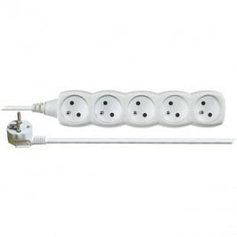 EMOS Predlžovací kábel – 5 zásuviek, 2 m, biely