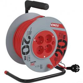 EMOS PVC predlžovací kábel na bubne – 4 zásuvky, 20 m, 1 mm2