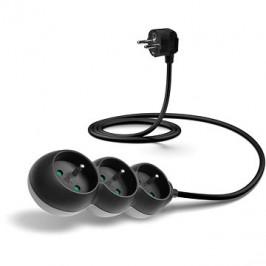 CONNECT IT predlžovací 230 V, 3 zásuvky, 1,5 m, čierny