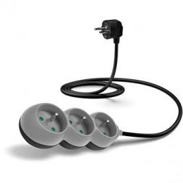 CONNECT IT predlžovací 230 V, 3 zásuvky, 1,5 m, sivý