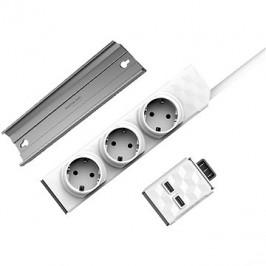 Allocacoc PowerStrip Modular Switch 1,5 m + USB modul + PowerStrip Rail