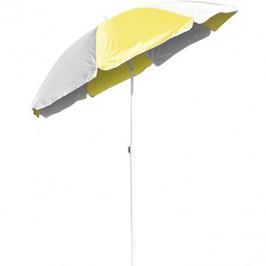 HAPPY GREEN Slnečník plážový s kĺbom 180 cm, žlto-biely