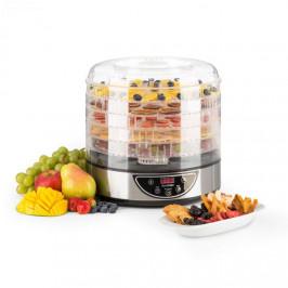 Klarstein Fruitower D sušička ovocia, 35-70°C, časovač, 5 poličiek, 200-240W, ušľachtilá oceľ