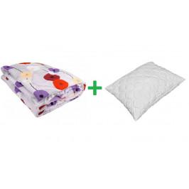 Posteľná súprava z dutého vlákna - kvetinový vzor (135x200+70x90)