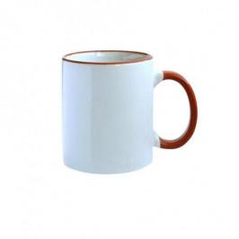 TORO Hrnček keramika, červený / biely, 300 ml
