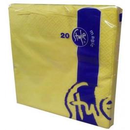 Style - magic Obrúsky 2-vrstvové St. Magic - žlté, 20 ks