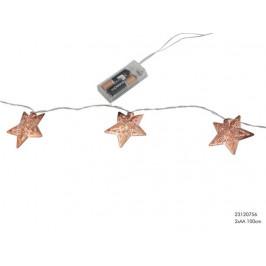 Vianočná svetelná reťaz 10LED hvezda medená