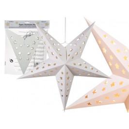 Papierová vianočná hviezda 4LED 60cm
