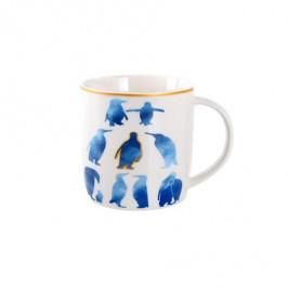 TORO Keramický biely hrnček s modrým potiskom TORO 350 ml