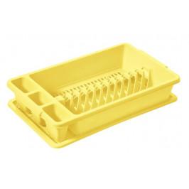 Tontarelli Plastový odkvapkávač s podnosom TONTARELLI 26,5x45cm žltý