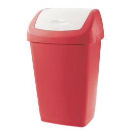 Tontarelli Plastový kôš na odpadky TONTARELLI Aurora 9l červenobiely