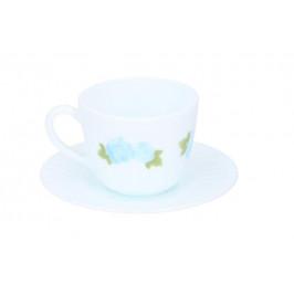 Šálka s tanierikom 220ml rúžovo-modrá