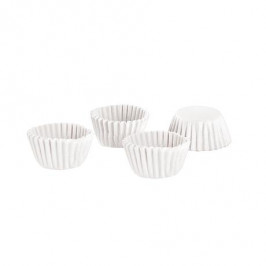 TORO Papierové košíčky na mini muffiny TORO 100ks bielé