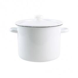 TORO Smaltovaný hrniec s pokrievkou 5,5l biely