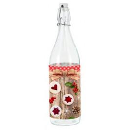 TORO Sklenená fľaša s patentným uzáverom TORO 1l linecké