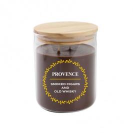 Provence Vonná sviečka v skle PROVENCE 530g Cigars/Whiskey 2knôty