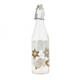 CERVE Sklenená fľaša s patentným uzáverom TORO 500ml perníčky