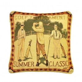 Forbyt Povlečenie na vankúš, Ornament Golf, farebný, 43 x 43 cm