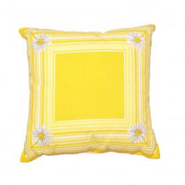 Forbyt, Vankúš, Margaréta, žltý, 40 x 40 cm vankúš (návlek + vnútro)