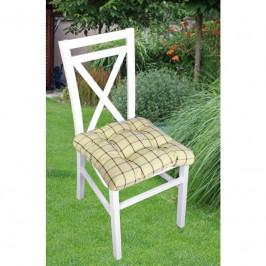 Forbyt, Sedák na stoličku, Káro 1038, béžový, 40 x 40 cm