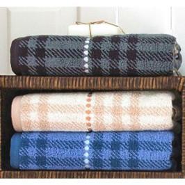 Forbyt, Prestieranie bavlnené, Elegantný pruhy lesklé Uterák alebo osuška bavlnená, JS 537 šedá  50 x 100 cm