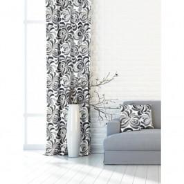 Forbyt, Záves dekoračná alebo látka, OXY ornamentálne kvet, šedý, 150 cm