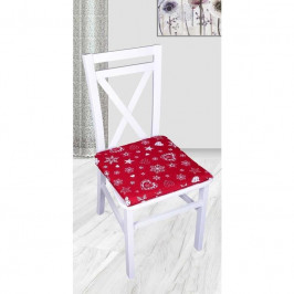 Forbyt, Sedák na stoličku, Vianoční srdce, červené, 40 x 40 cm