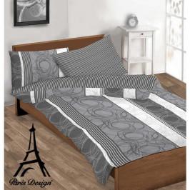 Obliečky bavlnené, Lyon sivá, bavlna exkluzív