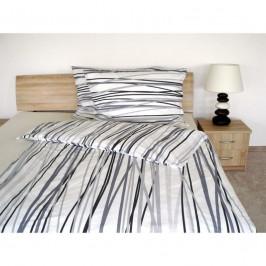 Forbyt, Súprava 2+2 posteľnej bavlneného obliečky, Kamila šedá