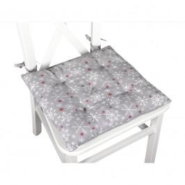 Forbyt, Sedák na stoličku, Vločky, šedý, 40 x 40 cm