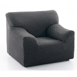 Poťah na sedačku multielastický, dezén MARTIN, tm.šedý kreslo 70 - 110 cm