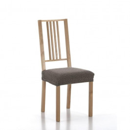 Poťah elastický na sedák stoličky, SADA komplet 2 ks, hnedý