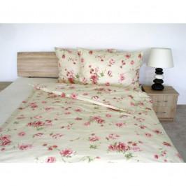Forbyt, Obliečky bavlnené, Flanel Alexis kvety růžové, 140 x 200 + 70 x 90 cm