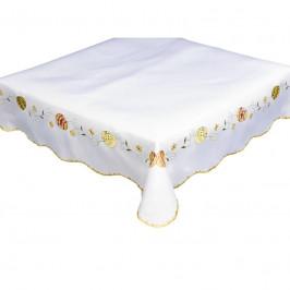 Forbyt, Obrus veľkonočný, Veľkonočný veniec, biely 85 x 85 cm