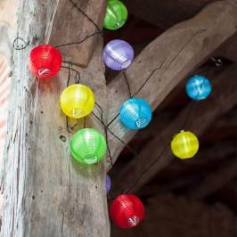 Párty lampióny 10LED, 10 lampiónov v tvare gule, na batérie