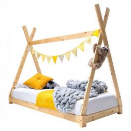 Detský posteľný rám z dreva, 70x140